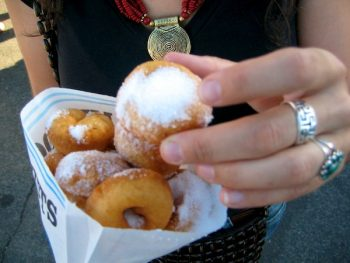 food writers on Twitter, here with mini-donuts