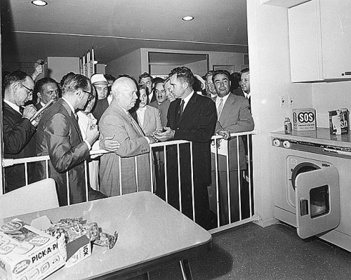 The Kitchen Debate - Nixon and Kruschev meeting in Moscow at the American National Exhibition, 1959