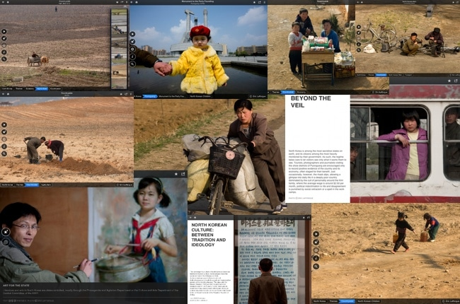 Fotopedia North Korea iPad App - image collage