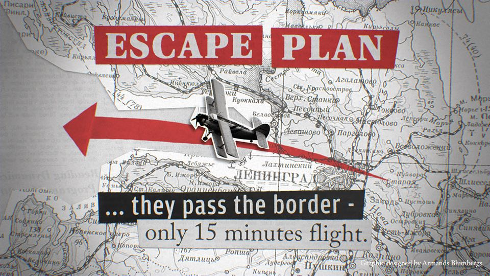 Operation Wedding escape plan graphic, designed by Armands Blumbergs.