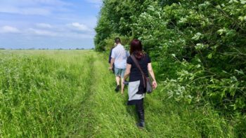 Walking to the site of a Holocaust mass grave in Romanow, Ukraine