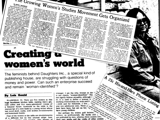 Women's World - more headlines from 1970s New York Times on microfilm