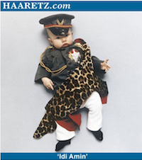 Baby dictator photos - baby dressed up as Idi Amin