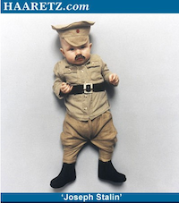 Baby dictator photos - baby dressed up as Stalin