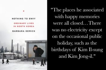 Cover of Barbara Demick's Nothing to Envy book on North Korea