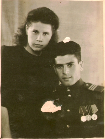 My grandparents in the Soviet Union, sometime after the war.