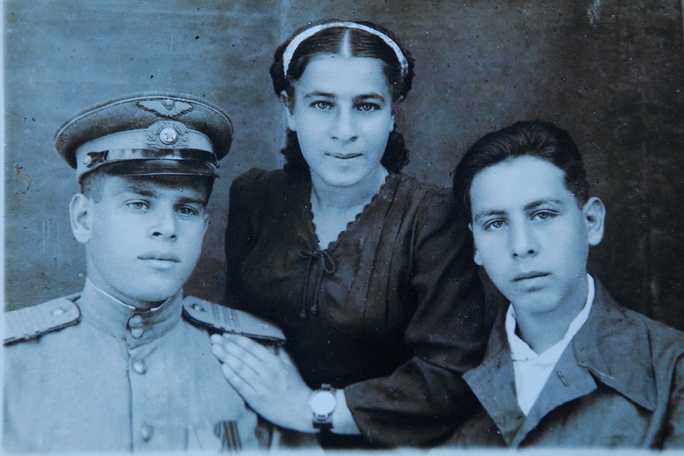 My grandfather and his siblings as a Red Army soldier at the outset of WWII, in approximately 1941.