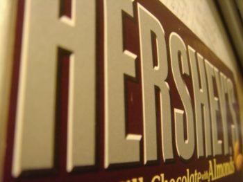 Hersheys label for anti-artisan chocolate bar