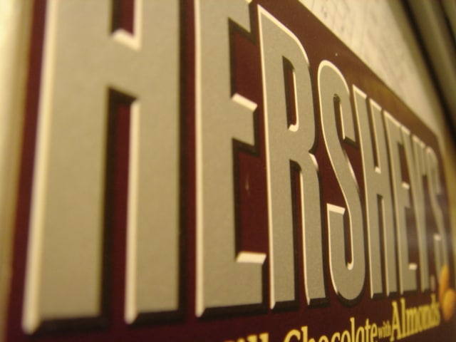 Hersheys label for anti-artisan chocolate bar