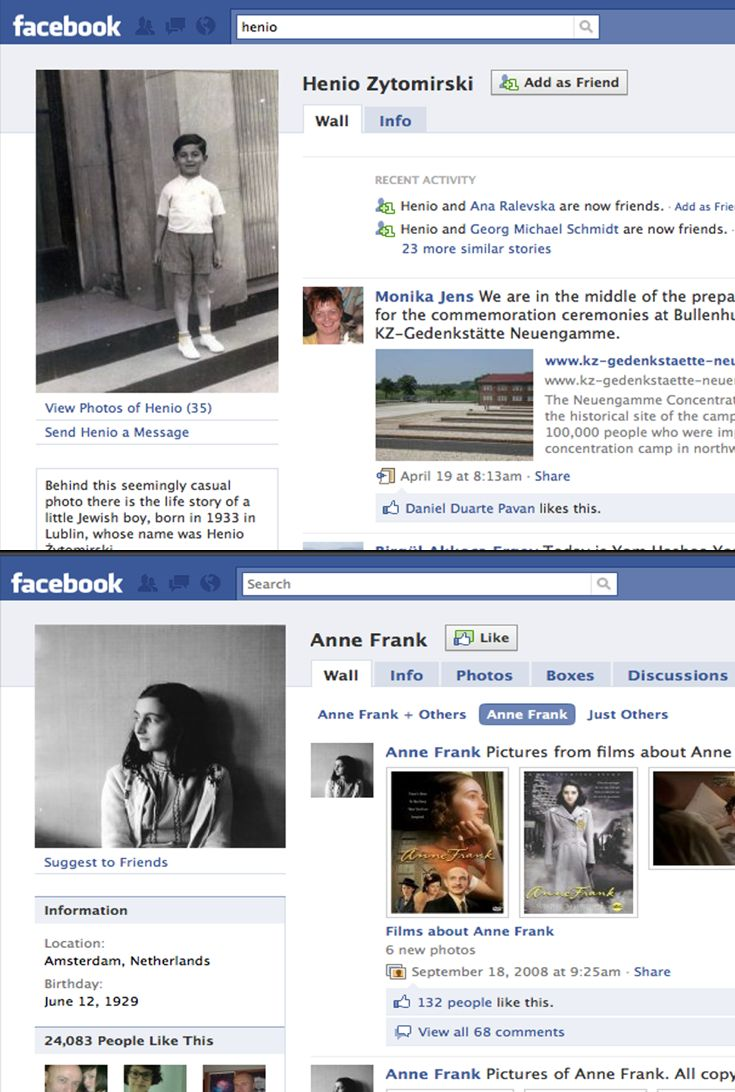 What happens when the Holocaust and Facebook collide? When Anne Frank gets an author page and other victims pop up with real-time updates? How are we to understand the teens who write on Anne Frank\'s wall? Do they understand that the timelessness of Facebook doesn\'t translate to these kids\' lives?