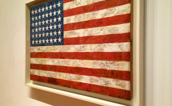 Jasper Johns American flag painting at the MOMA
