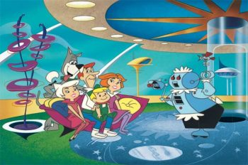 The Jetsons with their robot housemaid