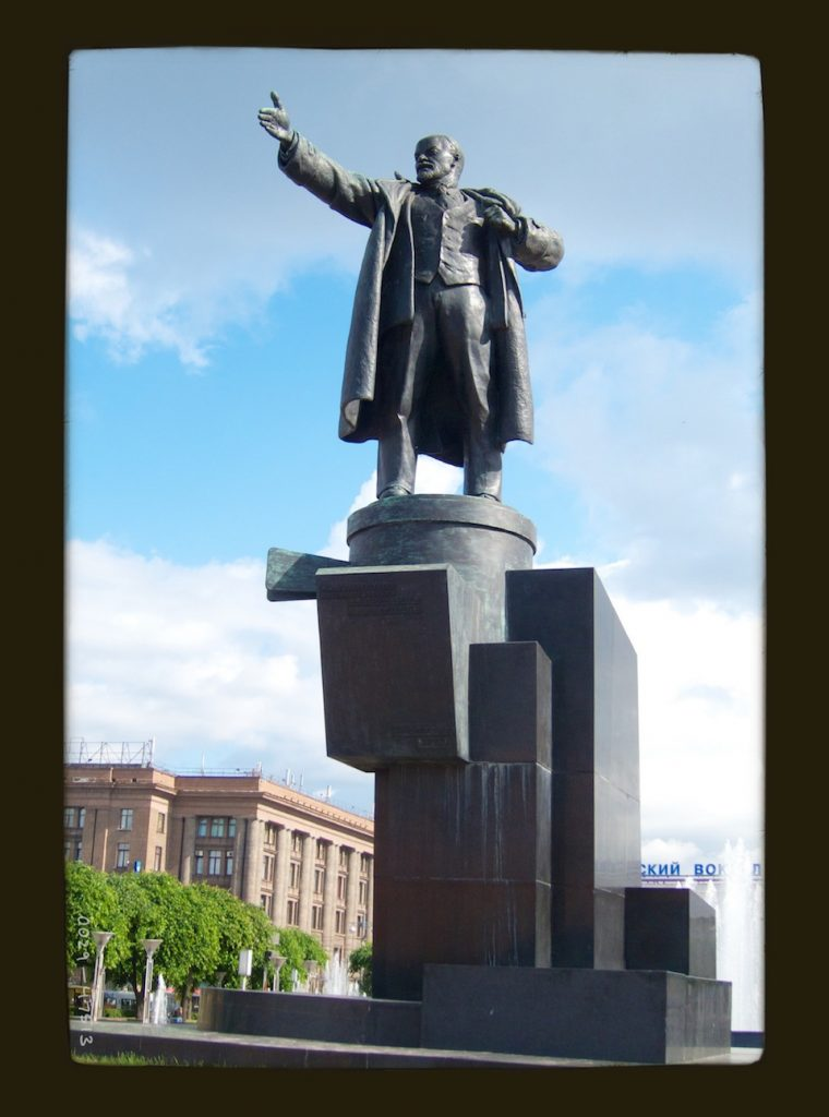 Lenin statues in Russia and Ukraine - outside Finland station in St. Petersburg