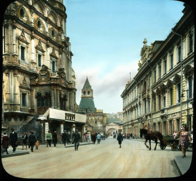 Old colour photos from Russia - Moscow street