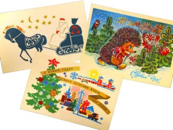 Soviet New Year postcards