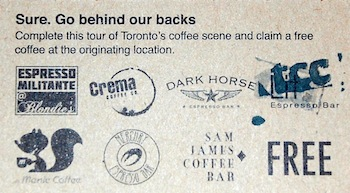 Loyalty card for Toronto Coffee Conspiracy