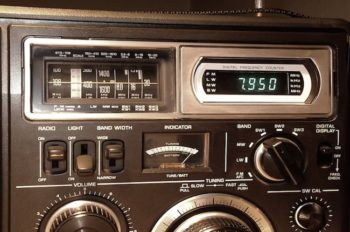 Vintage radio representing BBC Russia